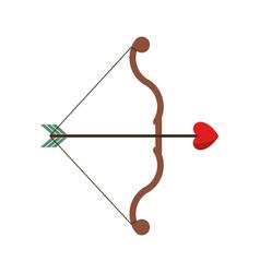 bow and arrow heart love sign vector image
