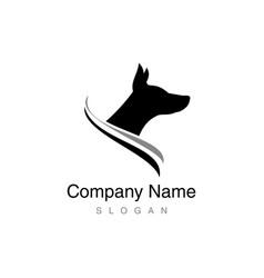 doberman logo vector image