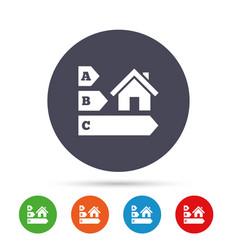 energy efficiency icon house building symbol vector image vector image