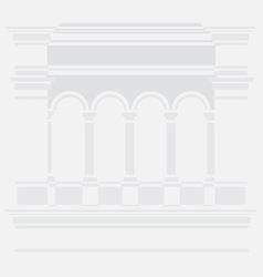 Roman colonnade vector image