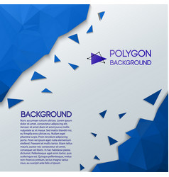 abstract background with triangular chips vector image