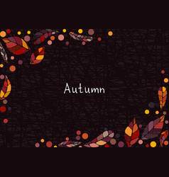Abstract colorful autumn leaves background vector