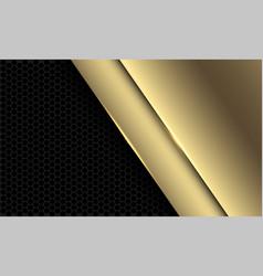 Abstract luxury golden grey hexagon mesh vector