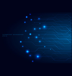 abstract technology futuristic concept line and vector image