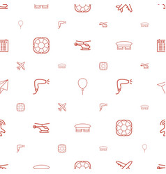 Air icons pattern seamless white background vector