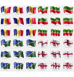 Andorra Tatarstan Solomon Islands England Set of vector