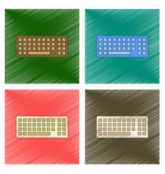 Assembly flat shading style icon computer keyboard vector