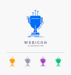 award competitive cup edge prize 5 color glyph vector image
