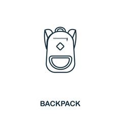 backpack outline icon creative design from school vector image