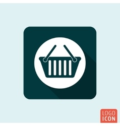 Basket icon isolated vector image