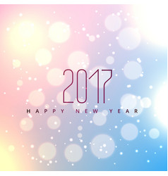 Beautiful bokeh background for 2017 happy new vector