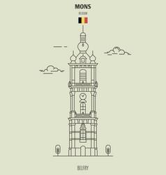 belfort tower in mons vector image