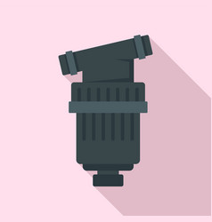 Black irrigation filter icon flat style vector