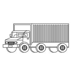 cargo truck vehicle transport cartoon vector image