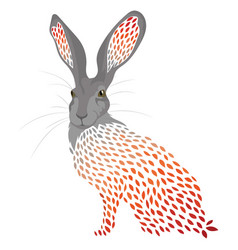 cartoon hare stylized wild hare colored vector image