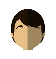 character face man male young shadow vector image