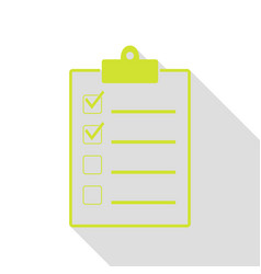checklist sign pear icon with flat vector image