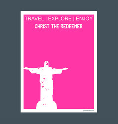 christ the redeemer rio de janeiro brazil vector image