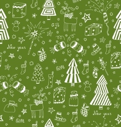 Christmas decoration seamless pattern Toys hand vector