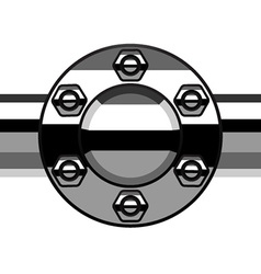 chrome termination flange pipe vector image