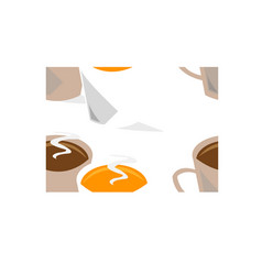 coffee cups seamless vector image