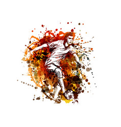 color of a soccer player vector image