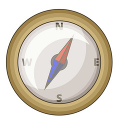 Compass icon cartoon style vector