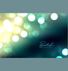 Defocused blurred bokeh lights background design vector