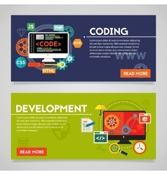 Development and Coding Concept Banners vector image