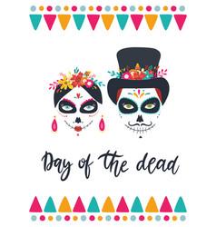 dia de los muertos mexican day dead vector image
