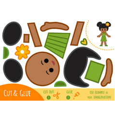 Education paper game for children african vector