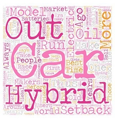 electric and hybrid cars2 1 text background vector image