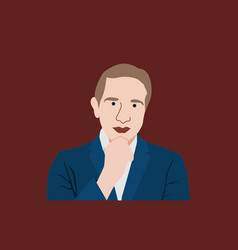 Executive man flat design vector
