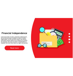 financial independence investment symbol design vector image