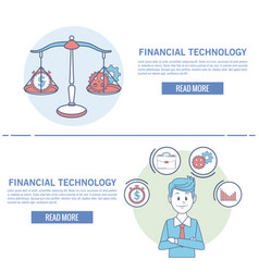 Financial technology infographic vector