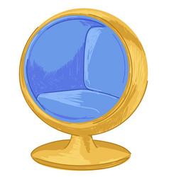 furniture interior design 1970s modern chair vector image