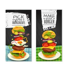 hamburger vertical banners vector image