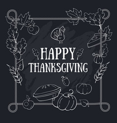 Happy thanksgiving greeting card template on vector