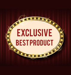 high quality product exclusive mark vector image