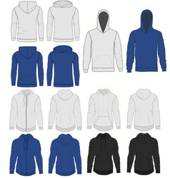 Hoody fashion sweatshirt template front and back vector
