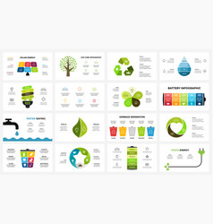 infographic templates set ecology nature vector image