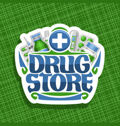 logo for drug store vector image