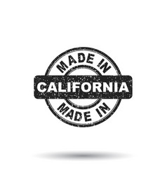 made in california stamp on white background vector image