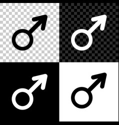 male gender symbol icon isolated on black white vector image