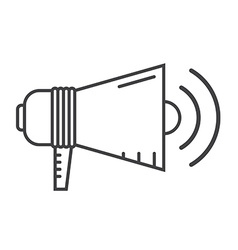 Megaphone Speaker Outline Icon vector