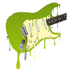 Melting guitar vector