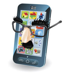 mobile phone theft concept vector image