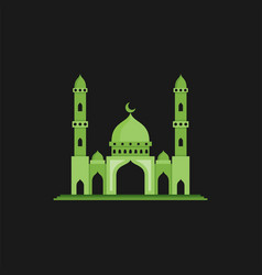 Mosque perfect for islamic theme flat color style vector