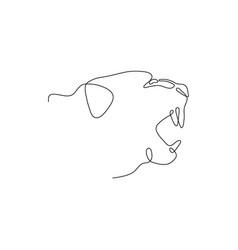 one line tiger head design silhouette vector image