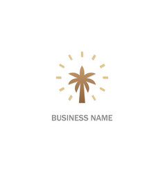 palm tree plant logo vector image